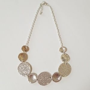 FRANCESCAS Medallion statement necklace
